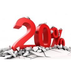 Компания дарит скидку 20 % в первое обращение для автосервиса, авто-мастерской, автотехцентра.